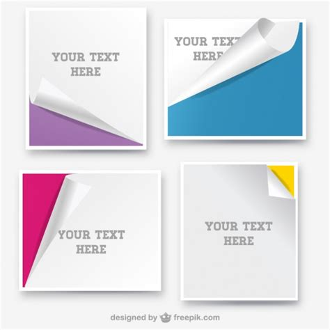 A Paper Banner - paper banners curled page design vector free