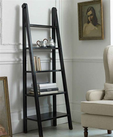 wooden ladder shelf bookcase black ladder bookshelf reviews