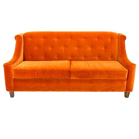 orange sofa orange sofa rentals event furniture rental formdecor