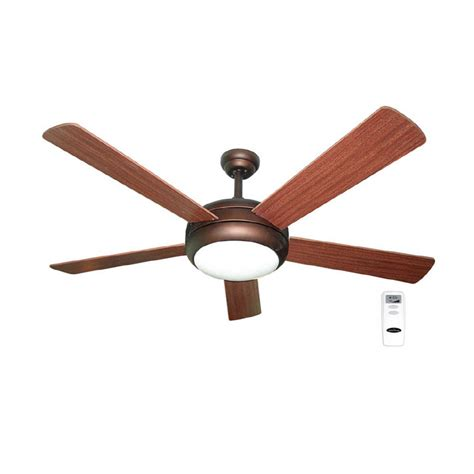 ceiling fans with remote and light lowes shop harbor aero 52 in bronze downrod mount ceiling