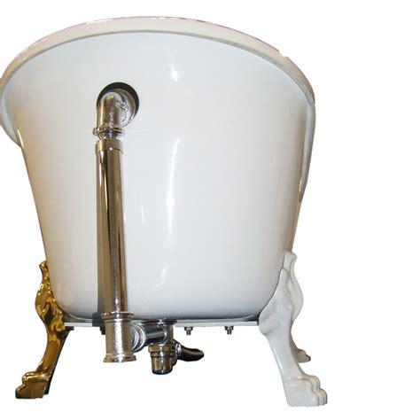 siphon en laiton pour la baignoire sur le