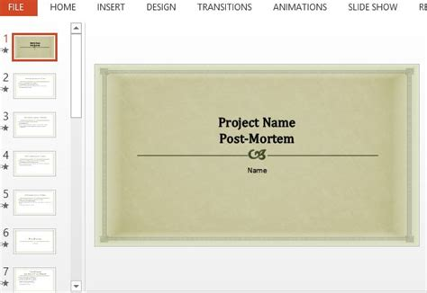 wrap up report template project post mortem presentation template for powerpoint