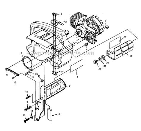 homelite chainsaw parts diagram homelite ut 10753 parts list and diagram