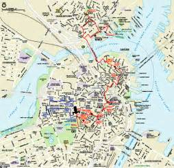 Boston Freedom Trail Map by Map Of Boston Related Keywords Amp Suggestions Map Of