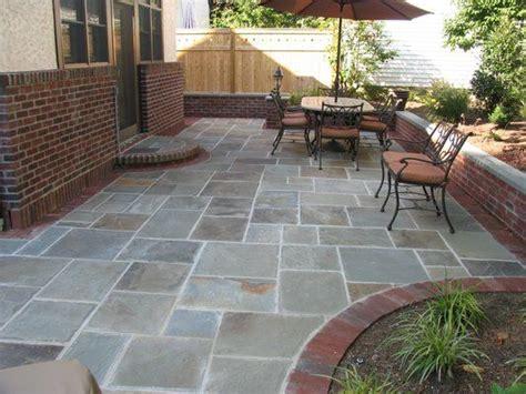 stone slate for backyard bluestone patio under the deck backyard ideas