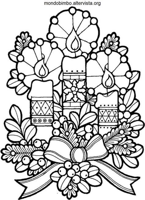 disegni candele candele natalizie da colorare mondo bimbo