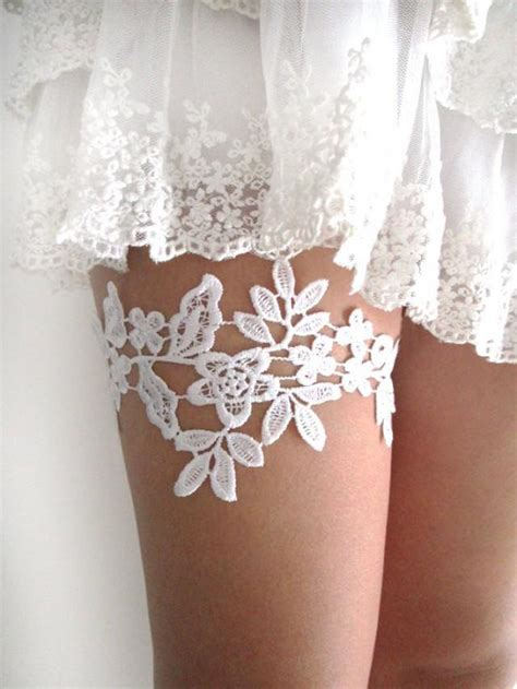 lace garter white lace garter wedding bridal garter lace garter set