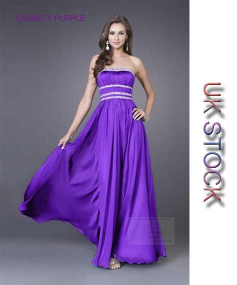 cadbury purple strapless chiffon evening wedding bridesmaid dress 6 22 ebay