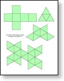 Platonic Solids Templates by Platonic Solids Templates Homeschool