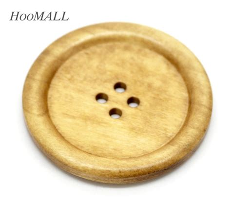 10 Pcs 3 5 Cm Wooden Button Kancing Kayu Basic Rainbow 10pcs 4 holes big wooden buttons for sweater overcoat