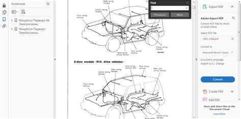 service manuals schematics 1991 mitsubishi pajero regenerative braking official workshop repair manual for mitsubishi pajero ii 1991 1999 wiring ebay