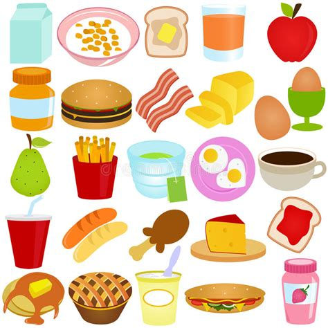 clipart pranzo a vector collection of breakfast lunch set royalty free