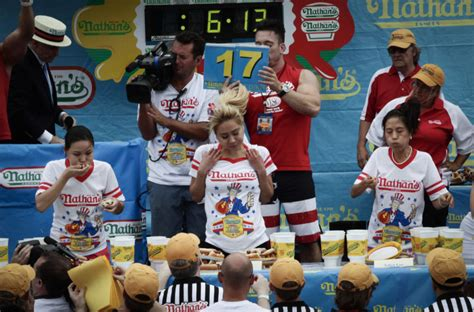female hot dog eating contest winner 2014 contest for women nathan s hot dog eating contest