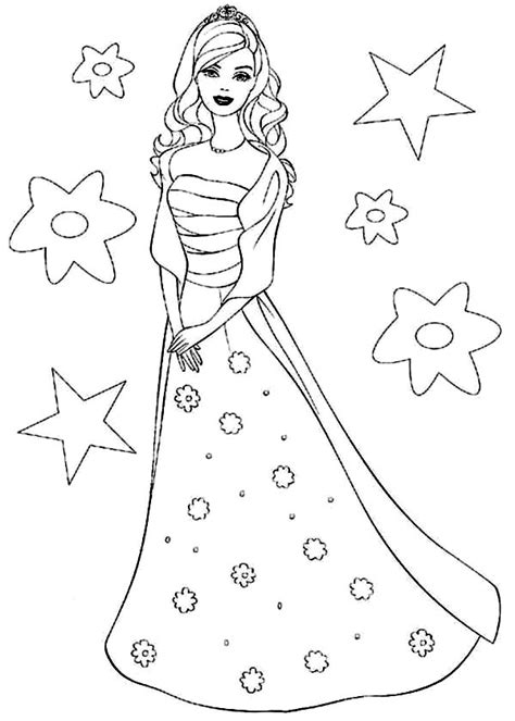 printable barbie princess coloring pages coloring me