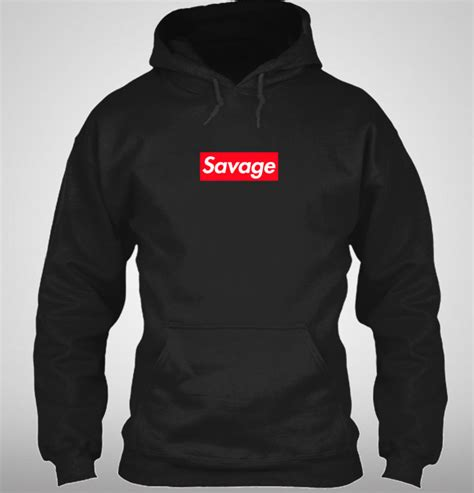 supreme clothing hoodie supreme savage box logo inspired hoodie 21 savage ebay