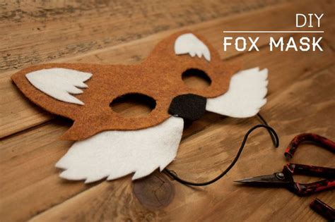 diy fox mask ideas supplies
