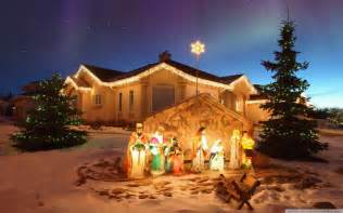 Lighted Nativity Outdoor Decorations Outdoor Lighted Nativity With White Sand Lighted Outdoor Nativity
