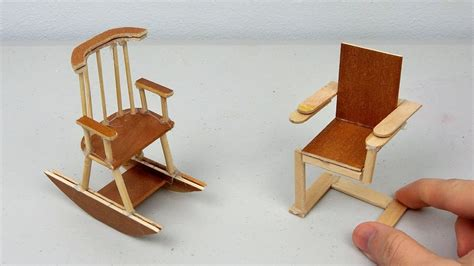 miniature diy projects diy miniature wooden chairs simple easy crafts ideas