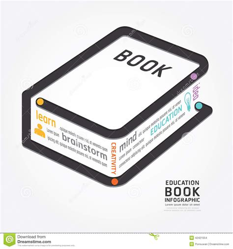 infographic book layout infographics vector book design diagram line style