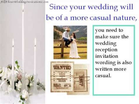 informal wedding invitation address tips for a informal wedding reception invitation wordi