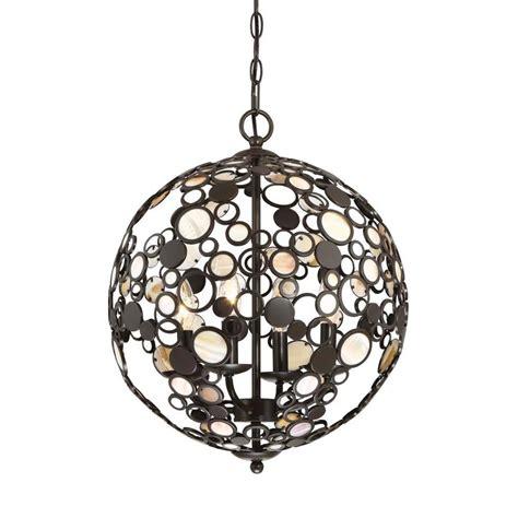 Orb Pendant Light Shop Quoizel Fairgate 16 In Bronze Coastal Multi Light Orb Pendant At Lowes