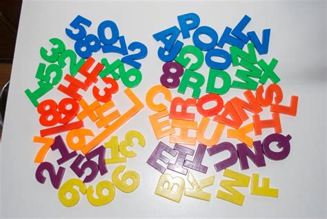Magnetic Letters Numbers by Plastic Magnet Letters Numbers Tootsietoy Magnetic Lot Of 67