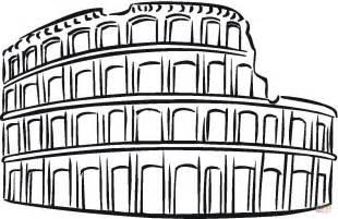 Ausmalbild Kolosseum  Ausmalbilder Kostenlos Zum Ausdrucken sketch template