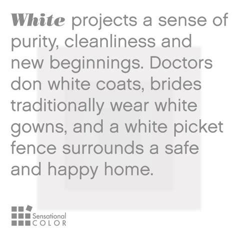 what does the color white meaning of the color white sensational color color