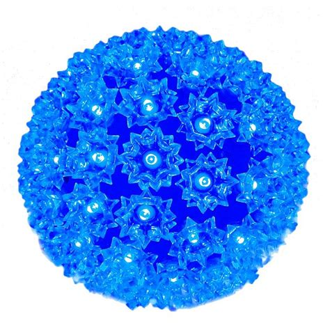 100 led battery operated blue star light sphere novelty
