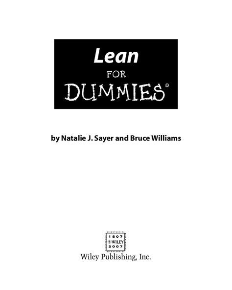 Mba Basics For Dummies by Lean For Dummies