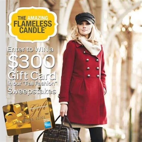 thrifty momma ramblings the amazing flameless candle fall fashion sweepstakes - Fall Sweepstakes