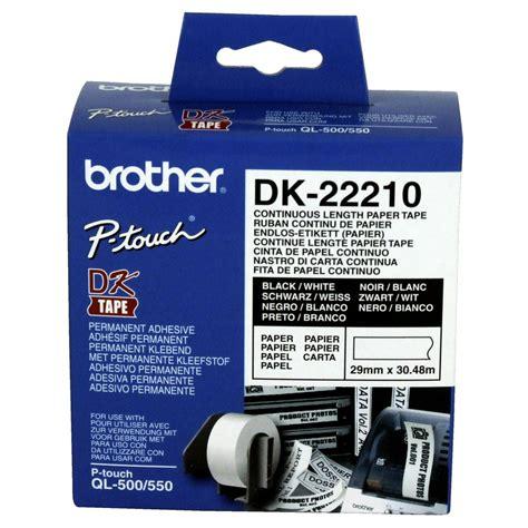 Dk Series Dk Continuous Length Dk 22210 continuous length paper dk 22210
