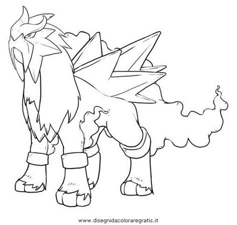 pokemon coloring pages entei free klurplaat entei coloring pages