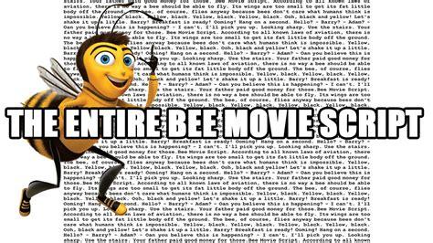 Script Meme - the entire bee movie script youtube