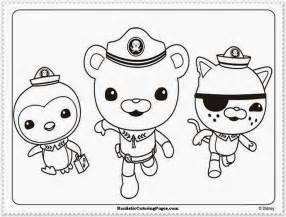free coloring pages of octonauts