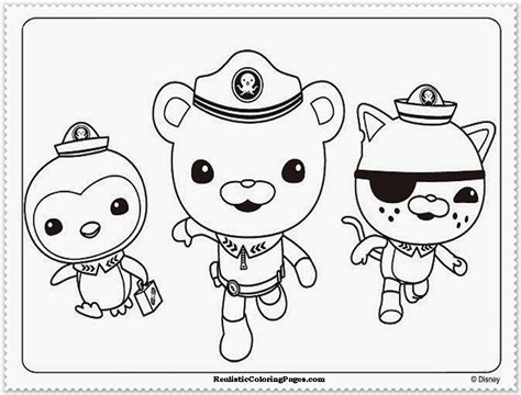 free coloring pages of christmas octonauts