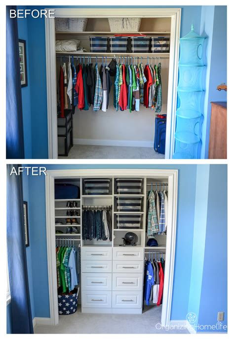 tween boys room organized closet reveal organizing homelife