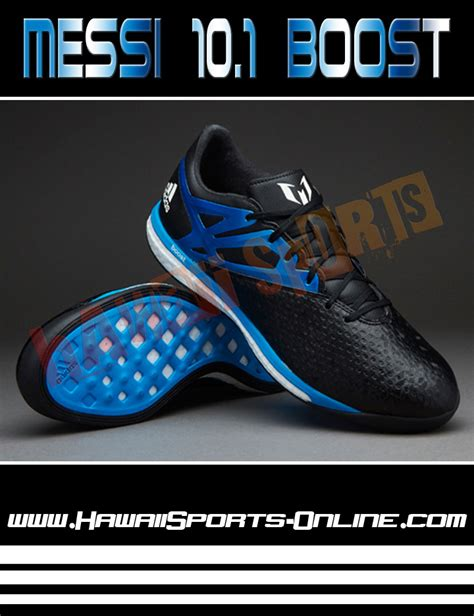 Sepatu Bola Adidas Messi Shocking Black toko olahraga hawaii sports sepatu futsal original adidas messi 15 1 boost black blue indoor