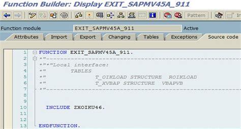 tutorial enhancements sap sap user exits and enhancements in sap abap stechies