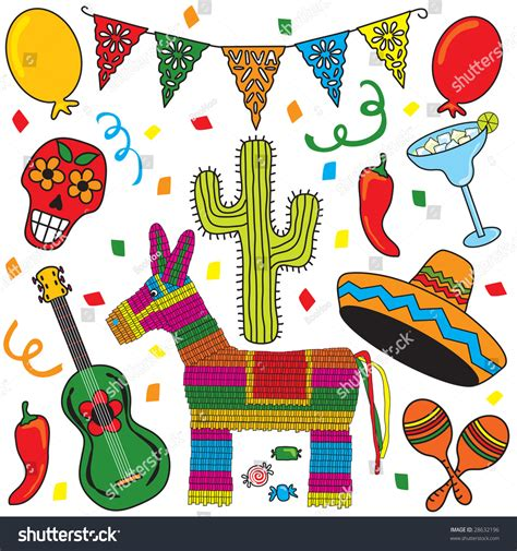 Mexican Party Fiesta Clip Art Individually Grouped. Great