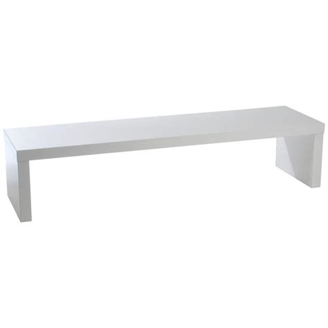 maat media bench white lacquer benches