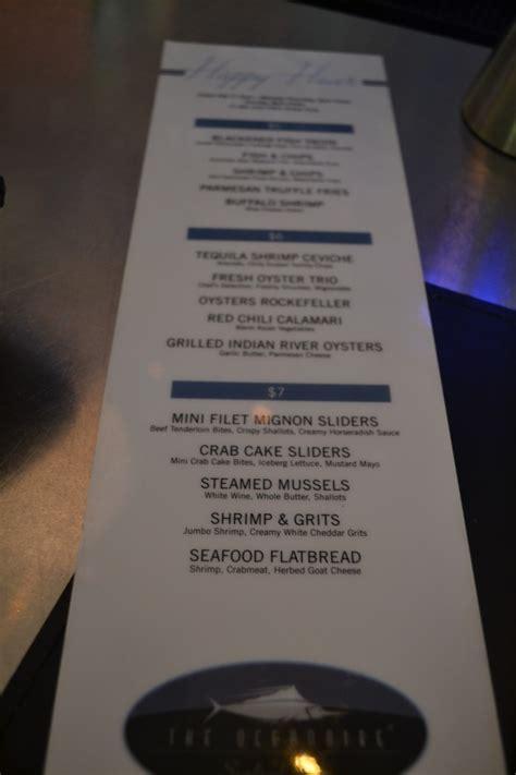 oceanaire seafood room menu orlando s happiest hours happy hour review oceanaire seafood room i drive orlando s