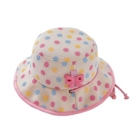 new summer children s hat lovely pink dot caps