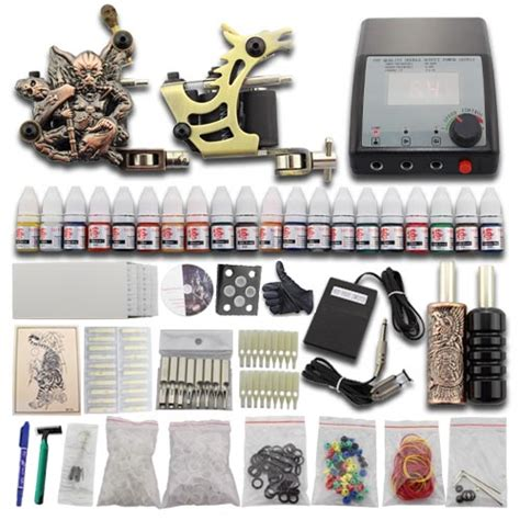 tattoo kit ebay uk complete starter tattoo kit 2 gun machine power supply set