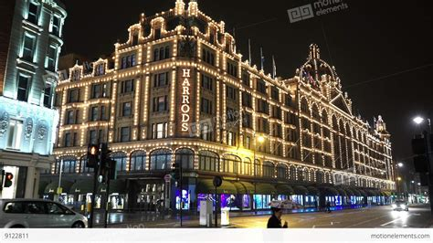 Famous Harrods Store London Knightsbridge At Christmas Harrods Lights 2014