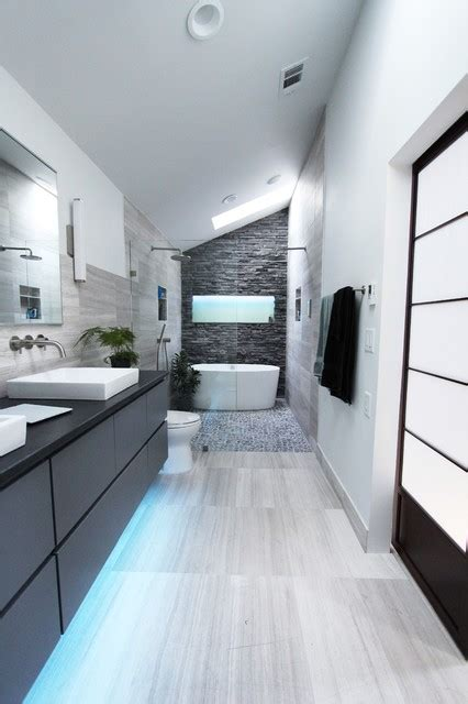 cool gray contemporary bathroom atlanta  change