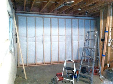 in basement wall framing basement walls how to build floating walls