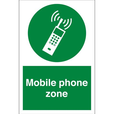 mobile zone mobile phone zone signs from key signs uk