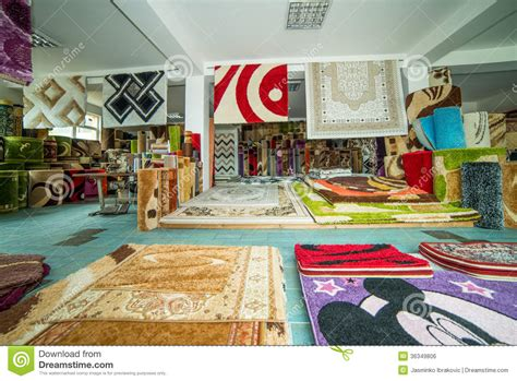 Carpet Rug Store Rolled Rugs Inside A Rug Store Stock Photo Image 36349806