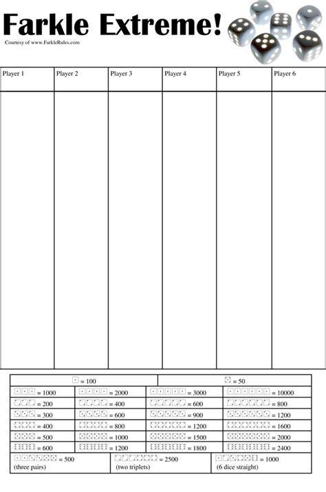 sle score sheet printable farkle score sheets free in pdf